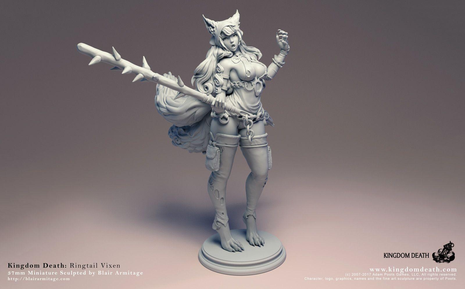 Kingdom Death - Ringtail Vixen, Blair Armitage on ArtStation at https://www.artstation.com/artwork/ymYox