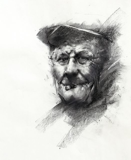 charcoal drawing by Ivan Alifan