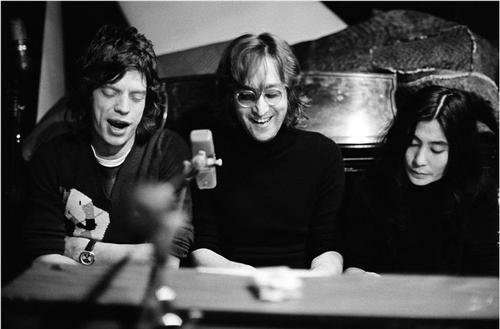 Bob Gruen     Mick Jagger, John Lennon and Yoko Ono, New York City     1972