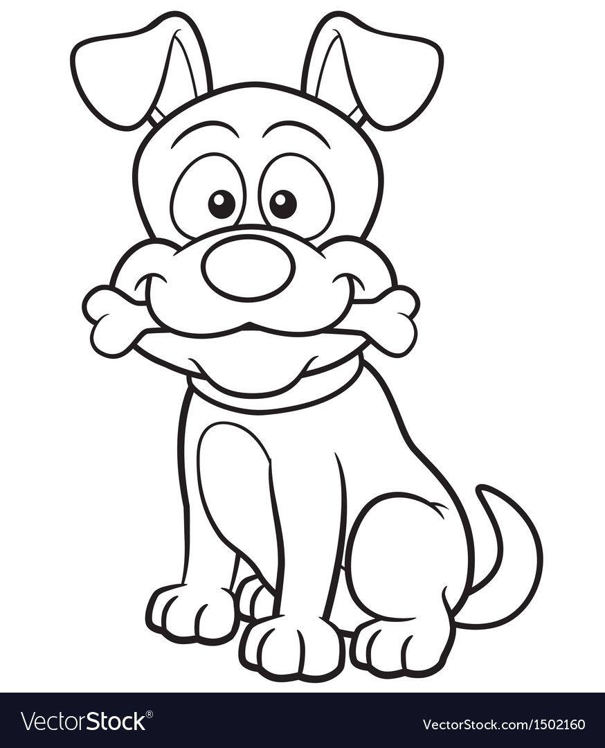 Dog Outline Vector Image On Vectorstock Dog Coloring Book Dog Coloring Page Animal Coloring Books