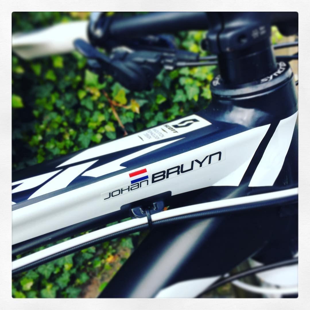 Mtb style custom name and flag sticker bike names bike stickers scooters mtb