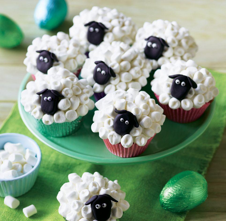 Baalamb muffins recipe easter lamb easter cakes