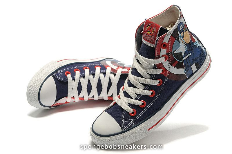 Captain America Converse Chuck Taylor Hi The Avengers Shoes bc793cc86