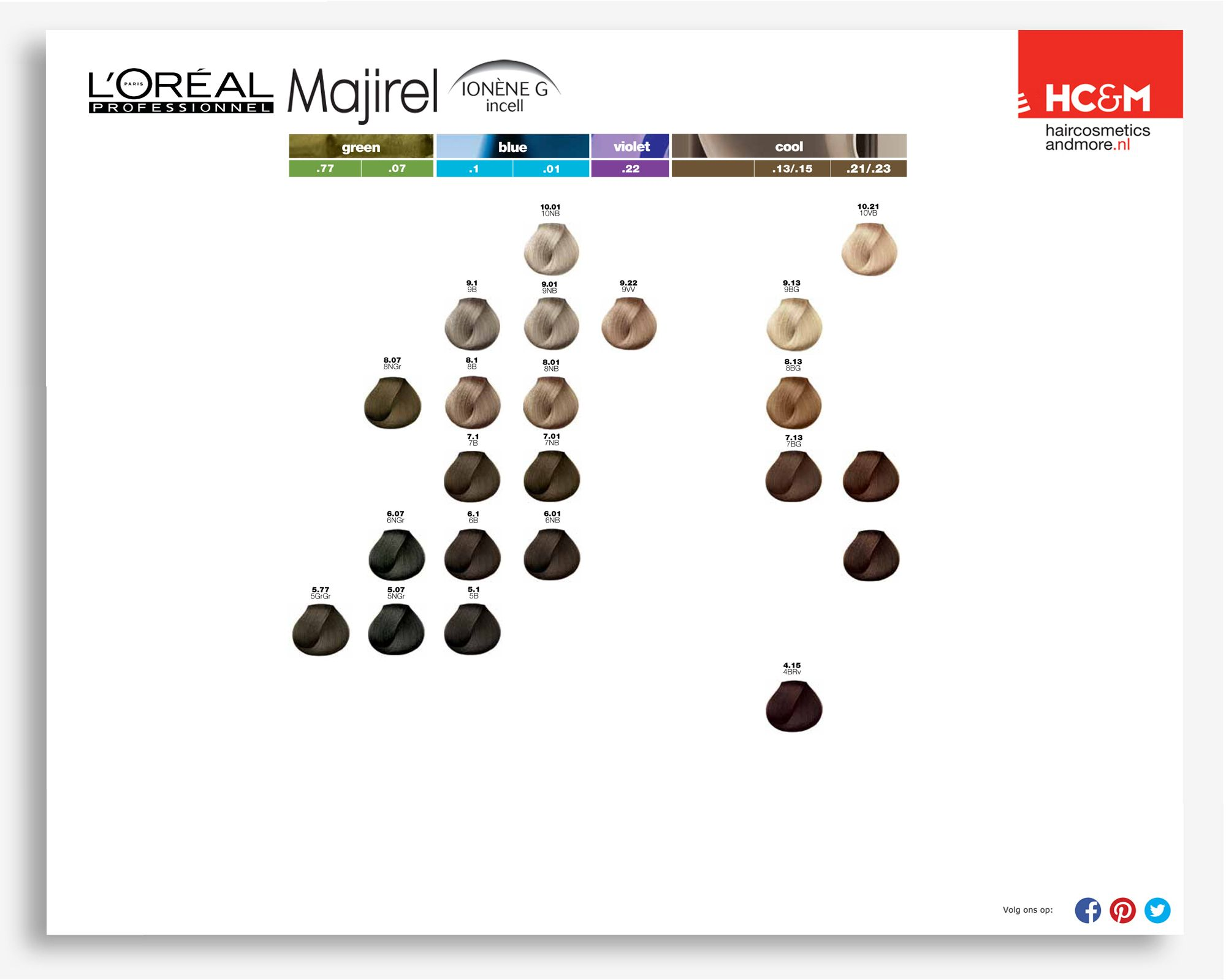 Majirel colour chart - L Or Al Professionel Majirel Green Blue Violet Cool Color Chartsclientvioletgreenliving