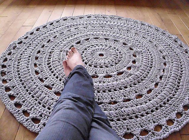 crochet rug/finished