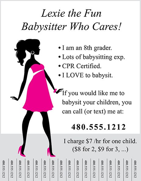 Marketing how-to} A Flyer That Gets YOU Biz | Babysitting and ...