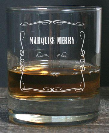 Verre à Whisky Pour Un Homme, Personnalisé à Son Prénom Et Un Message