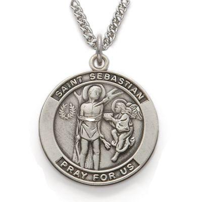 St sebastian patron of athletes sterling silver medal httpwww explore st sebastian patron saints and more aloadofball Images
