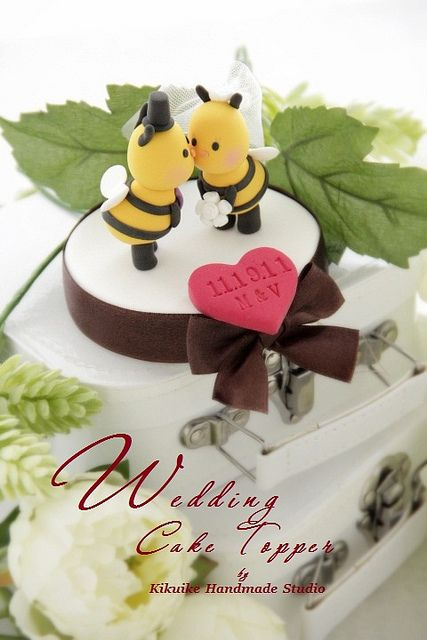 Super Cute Bee Wedding Cake Topper Since Brian Is My Honeybee