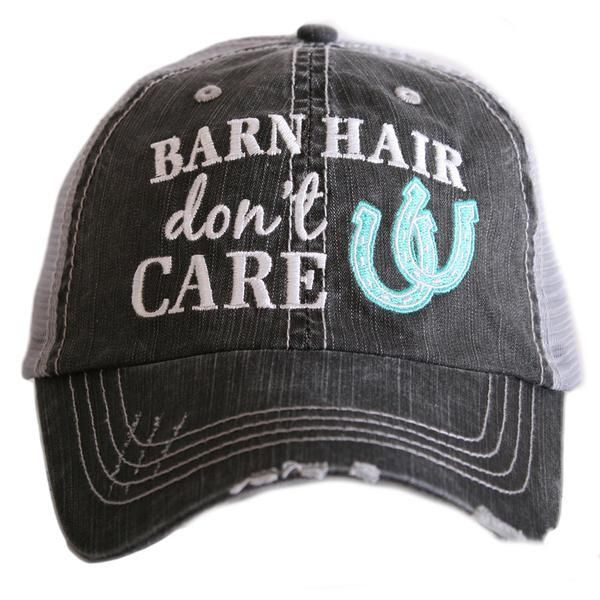 97af17658c4a9 Hat { Barn hair don't care } Horseshoe in pink, blue or white. FREE ...