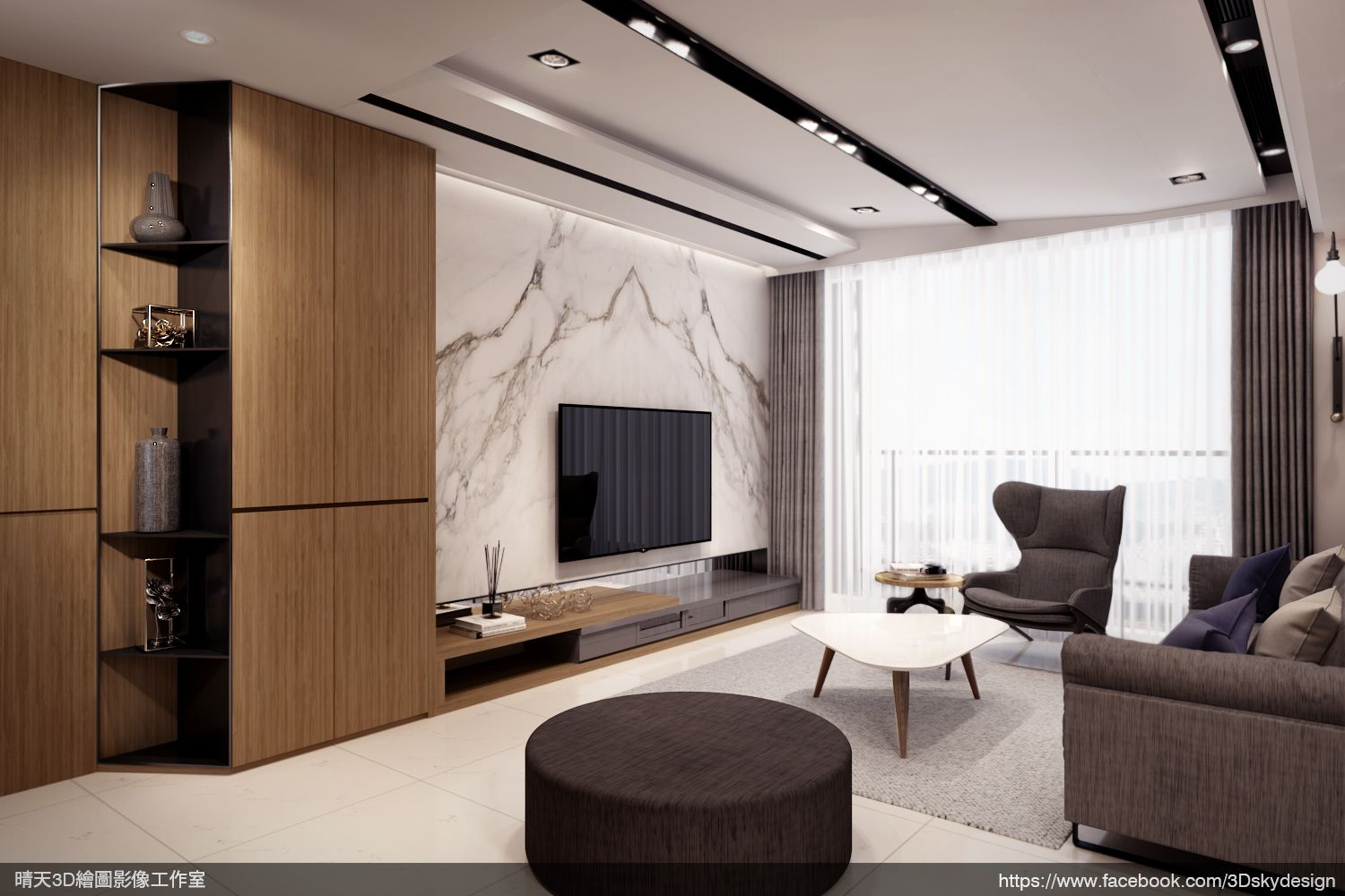 Interior 3d Rendering Perspective Computer Graphic 3dsmax Vray