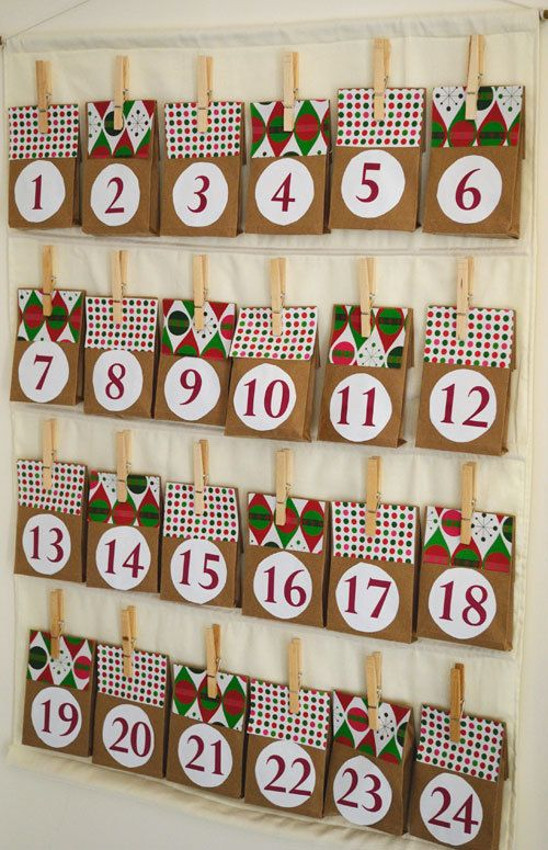 Charming Paper Bag Advent Calendar Homemade Advent Calendars