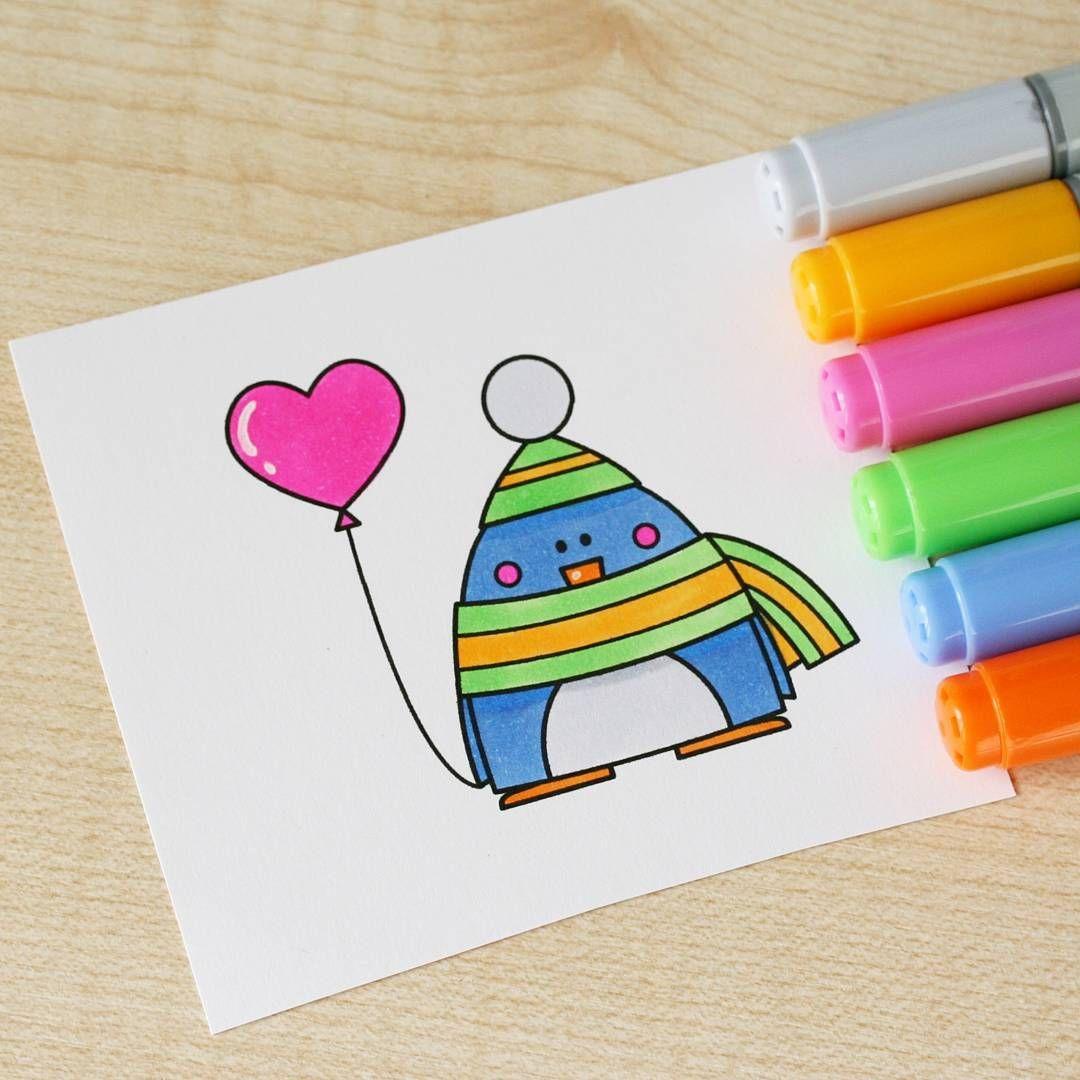 Привет, как нарисовать открытку маркерами
