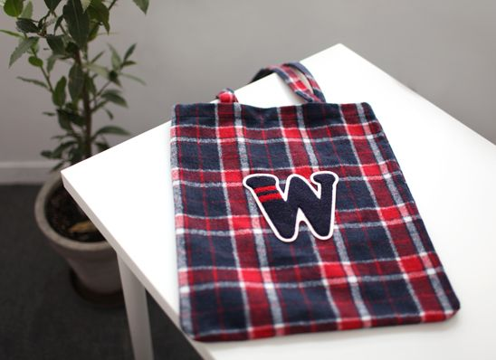 Check W Tote Bag