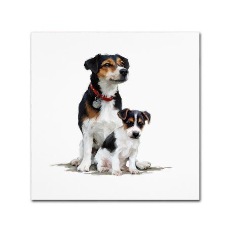 Trademark Fine Art 'Jack Russell' Canvas Art by The