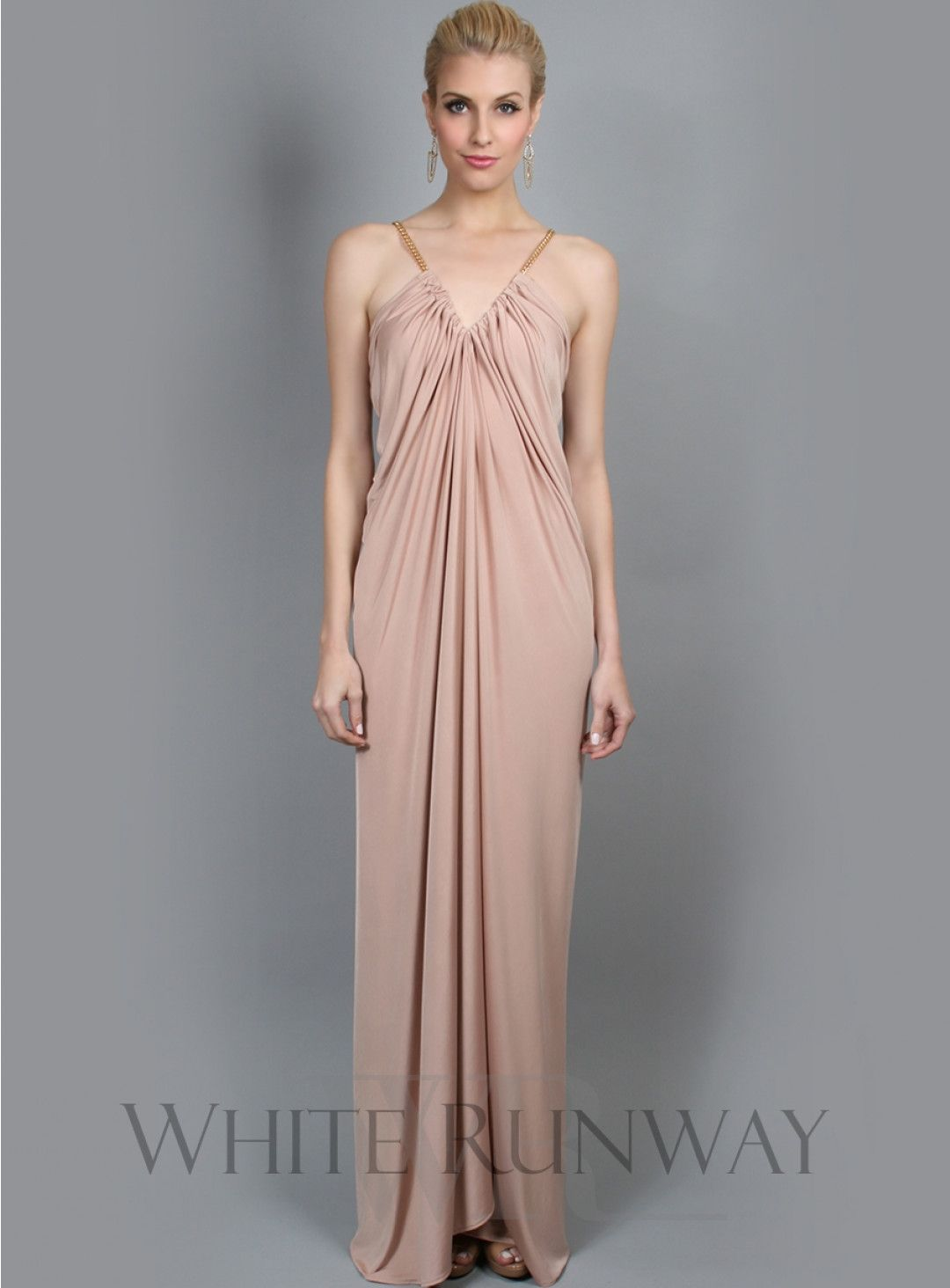 Bianca Dress. Very easy, loose fit V-neck maxi. Features crossover ...