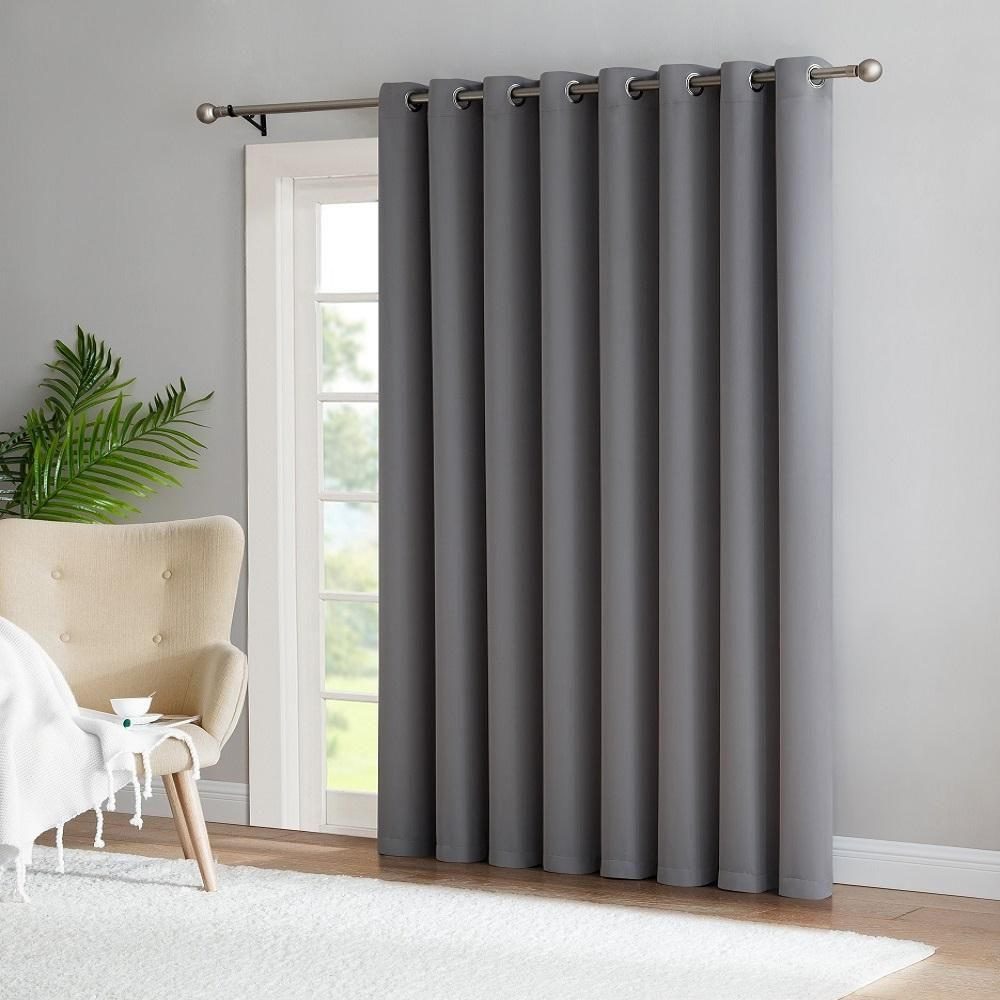 Warm Home Designs Extra Wide Light Grey Patio Door Curtains Wall To Wall Room Dividers Patio Door Curtains Patio Door Coverings Glass Door Curtains