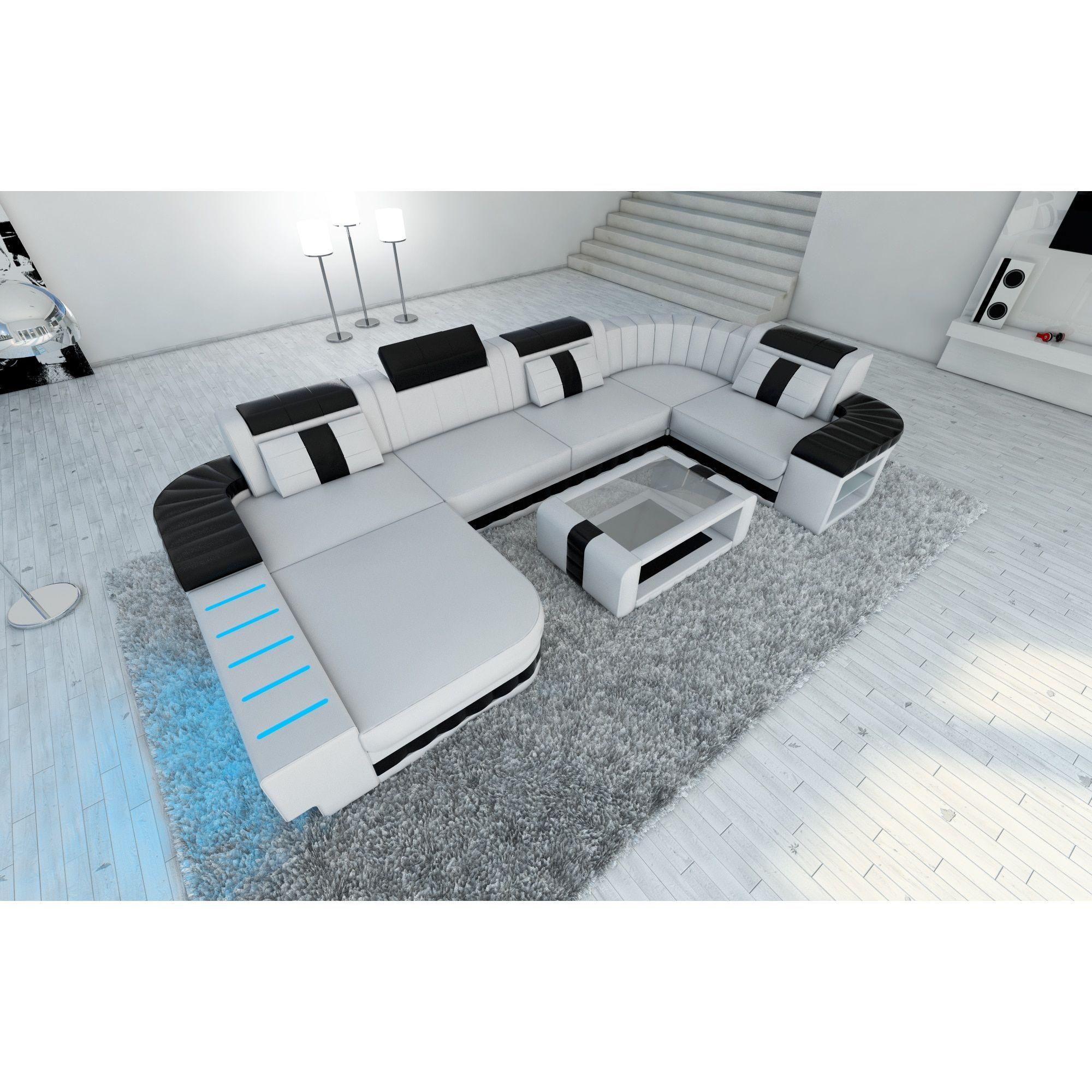 sectional sofas boston leather sofa ottawa led lights white u shaped