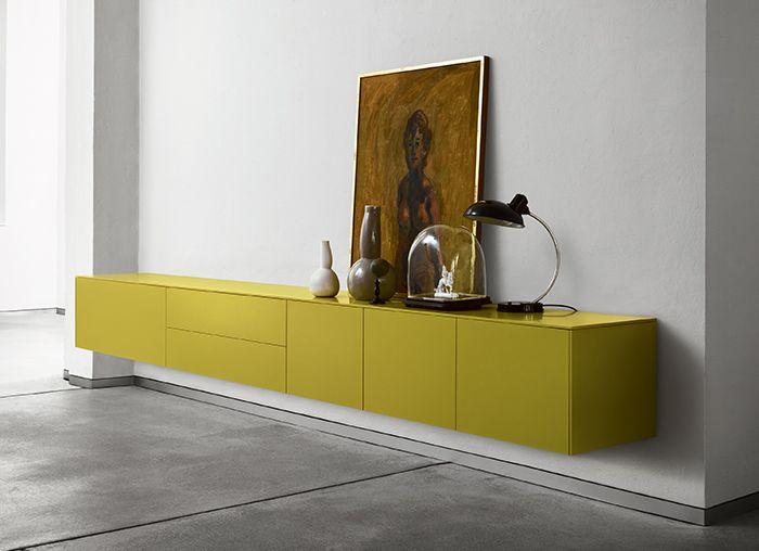 scheint zu schweben pures sideboard ohne griffe ohne f e genial auch f r kleine zimmer oder. Black Bedroom Furniture Sets. Home Design Ideas