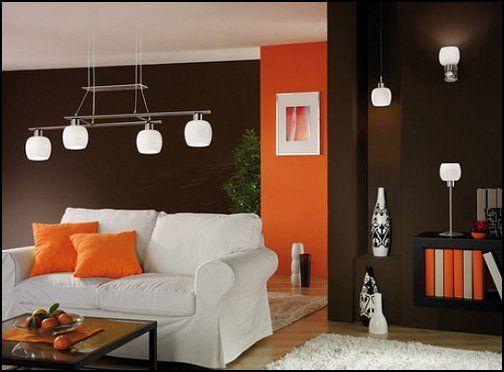 Zeitgenössische Wohnzimmer, Deko Ideen, Innenarchitektur, Farbblockierung,  Suche, Gesetz, Orange, Wohnzimmer, Für Zu Hause