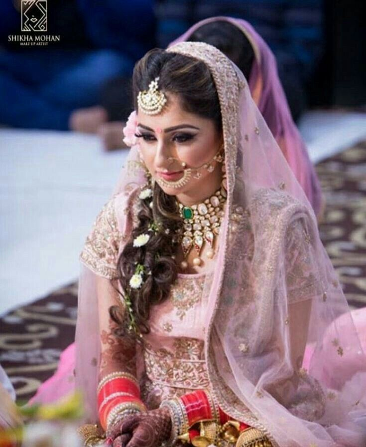 Quirky Wedding Hairstyle: Indian Wedding Hairstyles, Beautiful Bride