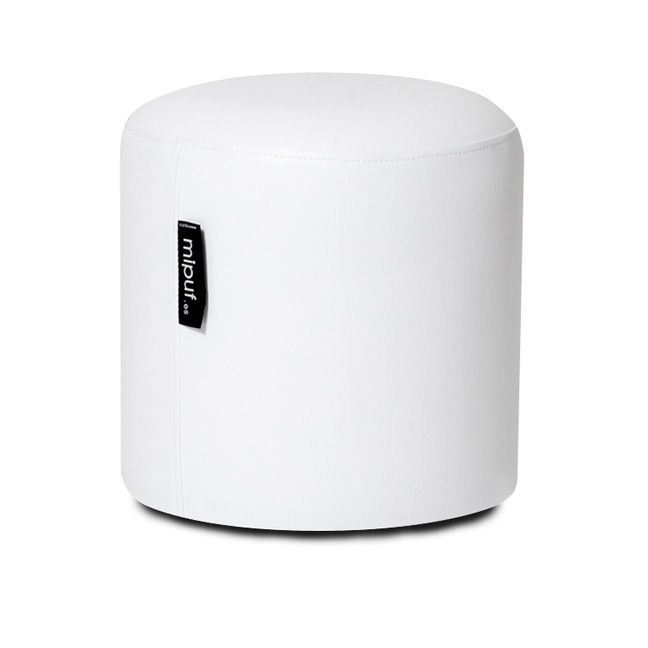 taburete 40x40 polipiel blanco | taburetes | pinterest | venta