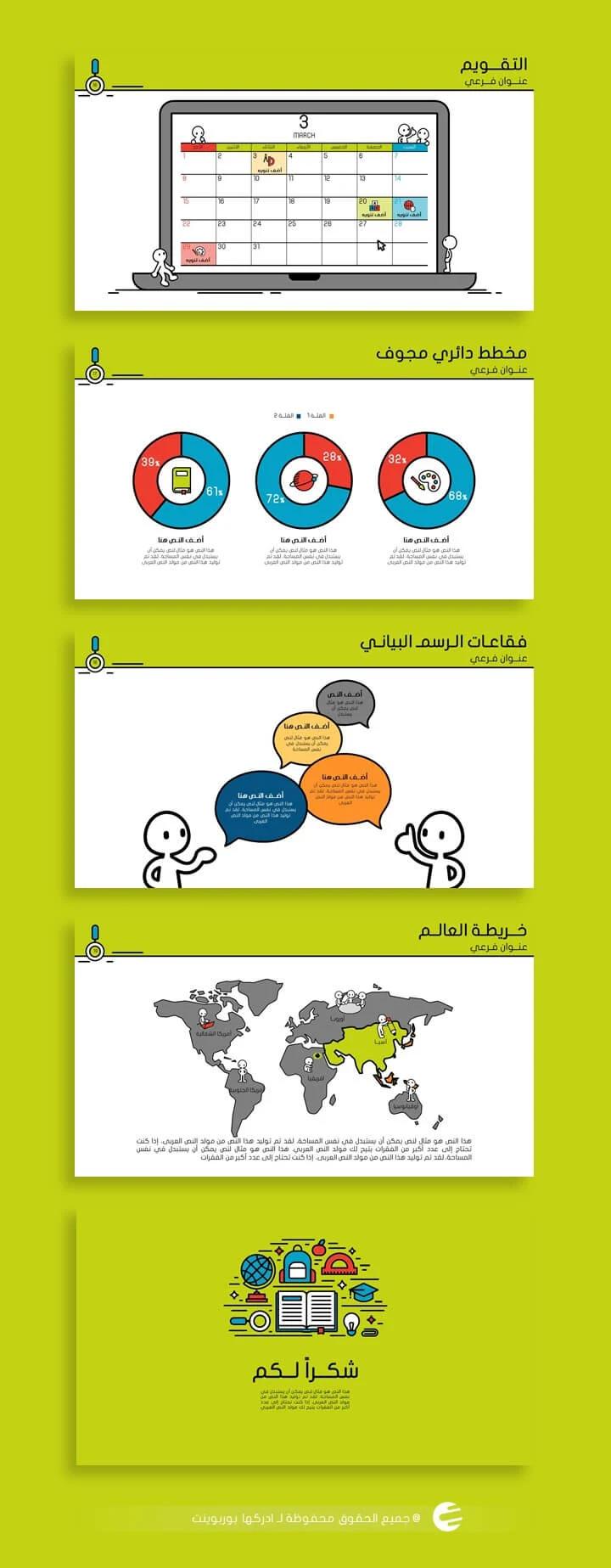 انفوجرافيك بوربوينت تعليمي جاهز لرياض الأطفال حتى المرحلة الثانوية ادركها بوربوينت Education Presentation Life Habits
