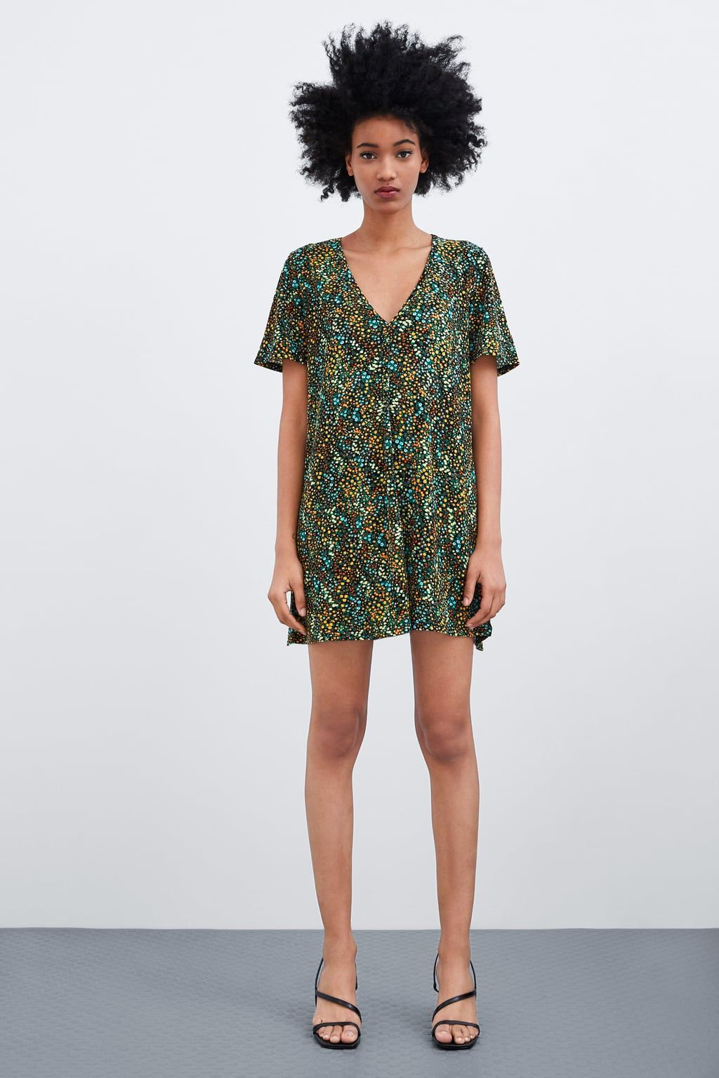 fa08a5e4 TEXTURED WEAVE DRESS - Mini-DRESSES-TRF | ZARA United Kingdom Easy Sew Dress