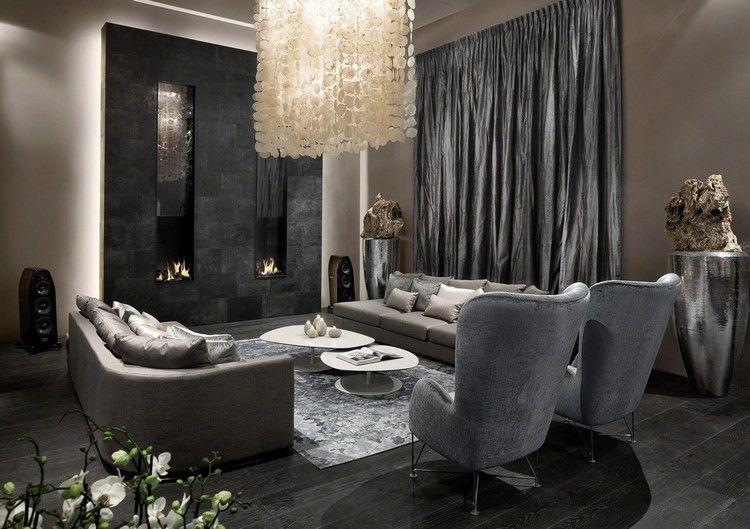 Wohnzimmer in Grau und Schwarz gestalten \u2013 50 Wohnideen mit dunklen - wohnzimmer design schwarz