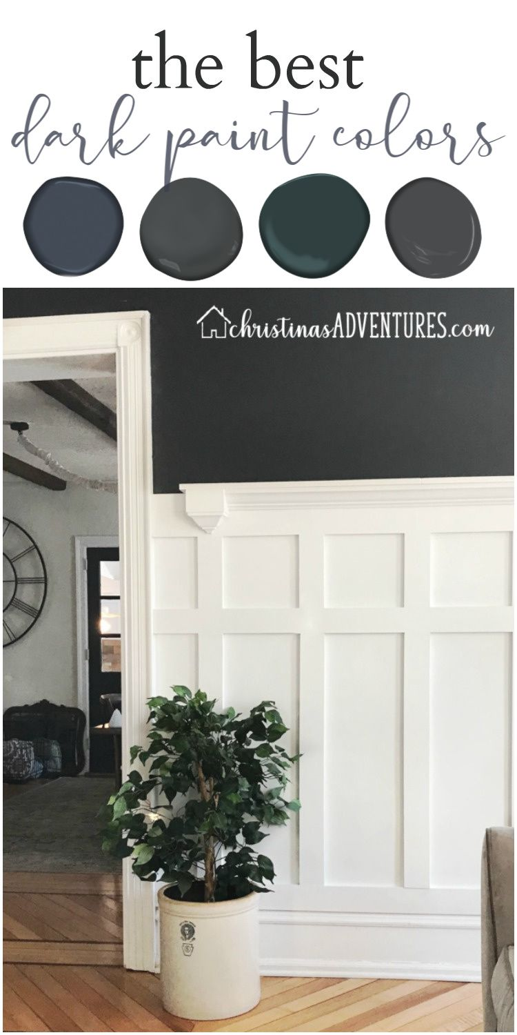 All The Details On The Best Dark Paint Colors To Add Moody Contrast To Your Walls Find The B Green Accent Walls Dark Paint Colors Paint Colors For Living Room