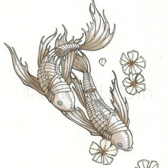 "Koi fish print 4x6/"""