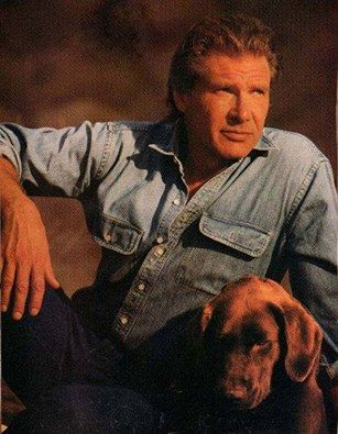 Harrison Ford and his dog