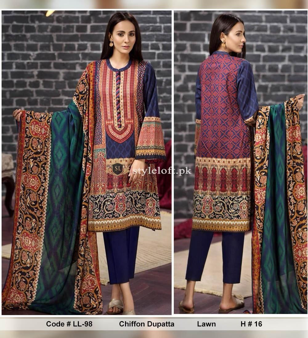 645bc019e3 LimeLight 3Piece Unstitched Lawn Collection 2019 LL-LW1905 | New ...