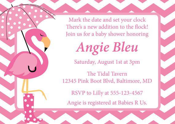 flamingo baby shower invitation diy printable by cowprintdesigns, Baby shower invitations