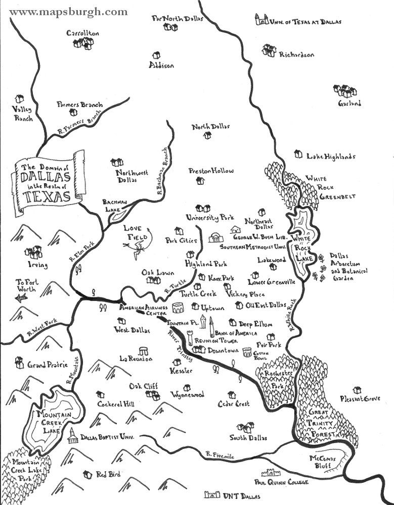 Inspired By The Maps In Fantasy Novels Like J R R Tolkiens The Lord