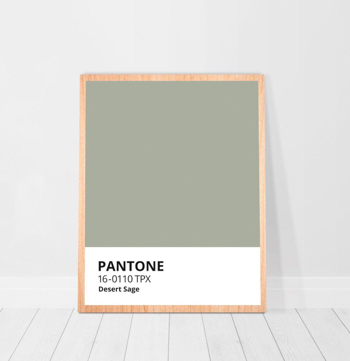 Pantone Sage Color Print Digital Download Sage Green Poster Etsy Sage Green Walls Sage Green Paint Color Sage Green Paint