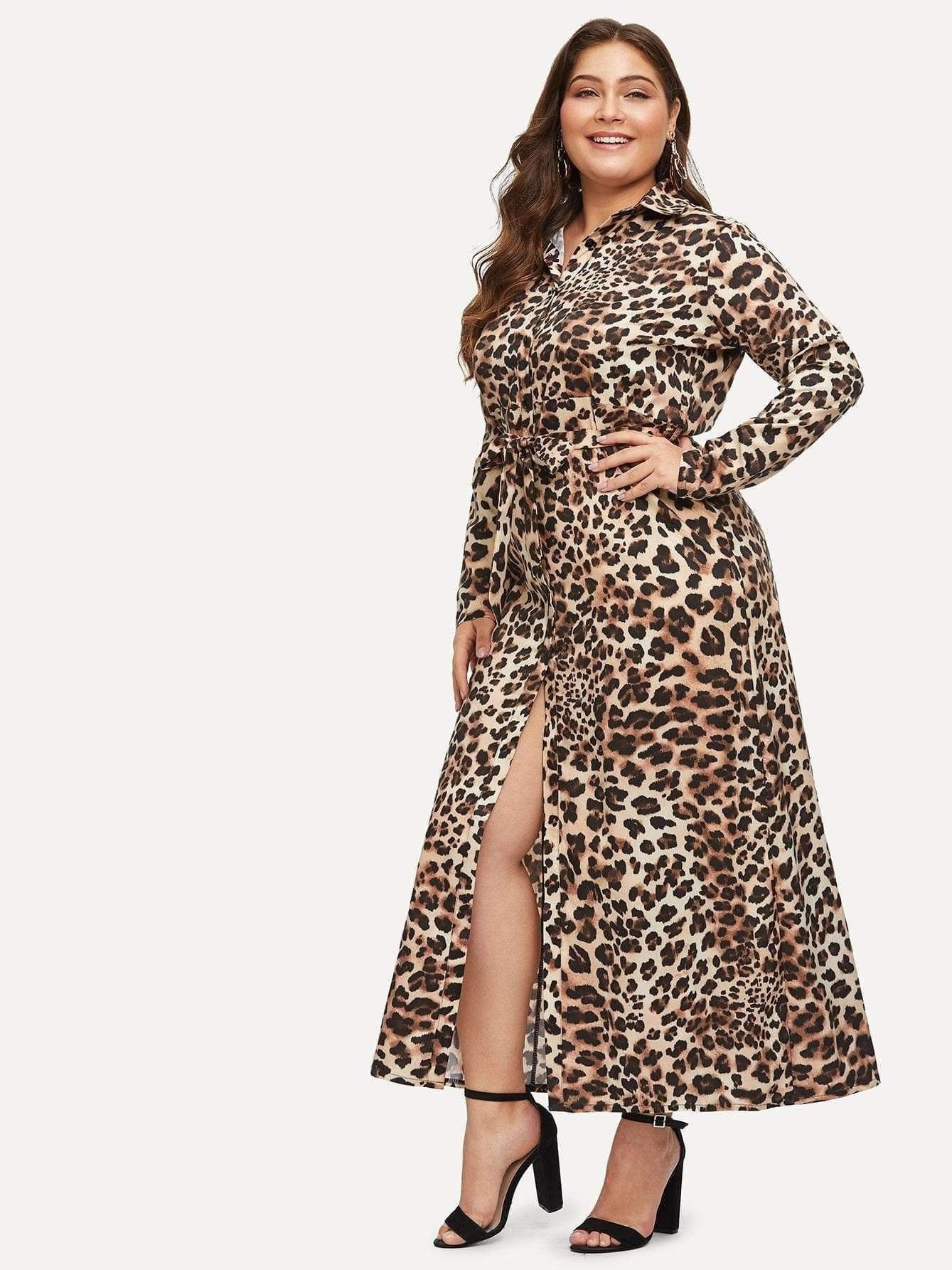 f4fb88b7734 Leopard Print Shirt Dress in 2019   Plus Size Collection   Dresses ...