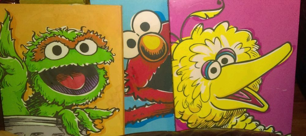 Sesame Street Hand Painted Canvas Childrens Room Decor #art #kids ...
