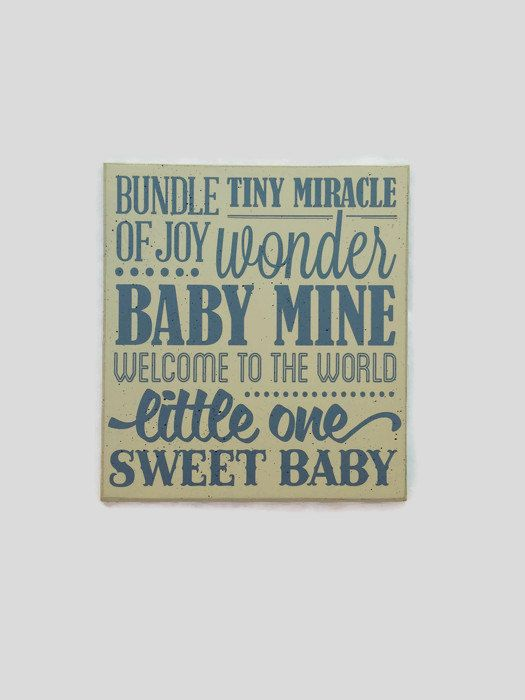 Baby shower gift baby sign wooden sign baby sign subway sign baby bundle of joy tiny miracle welcome to the world baby room decor