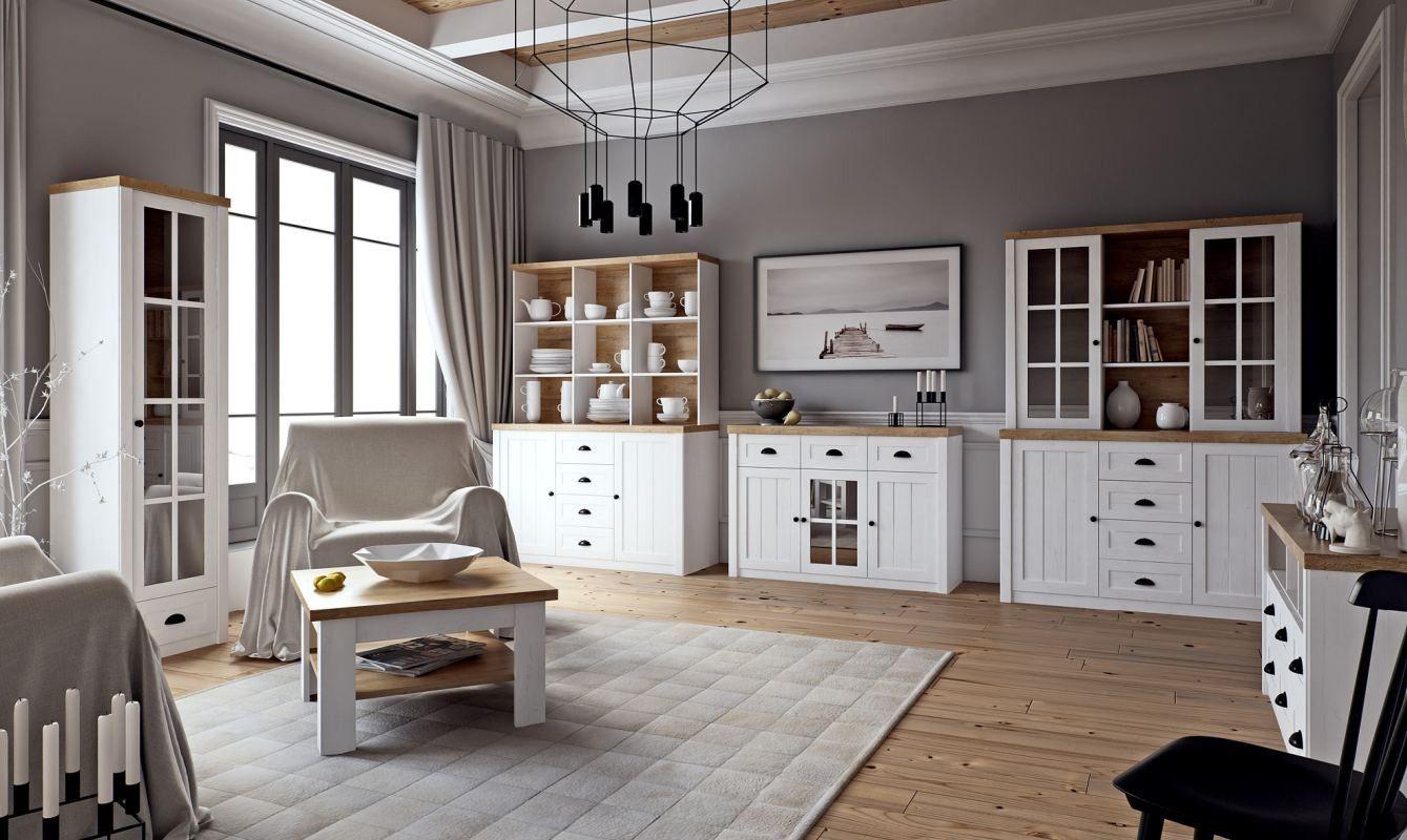 Wohnzimmer Komplett Set A Segnas, 8teilig, Farbe