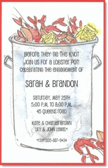 Crawfish Pot Seafood Boil Invitations by Invitation Duck This would