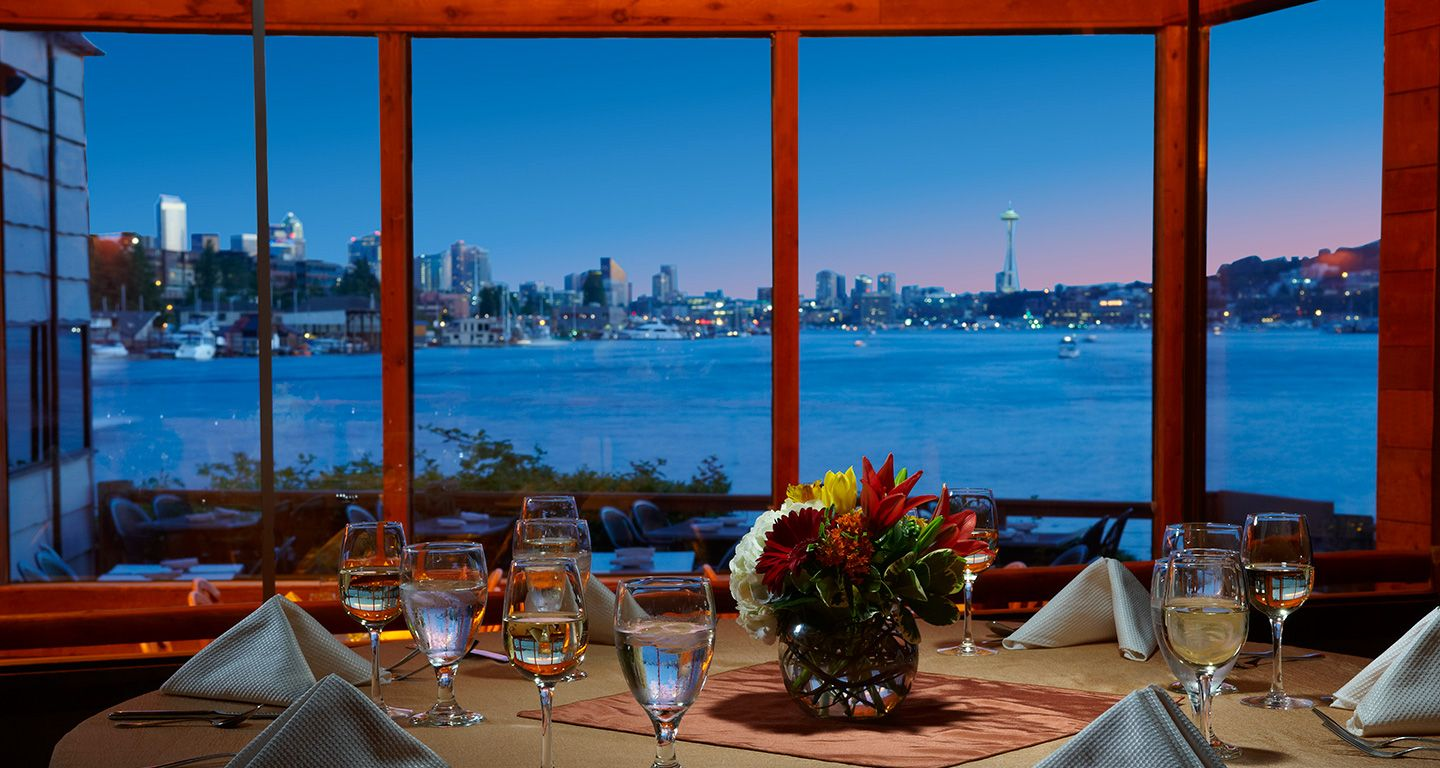 Spectacular views of Seattle s skyline at this waterfront restaurantIvar s Salmon House  Spectacular views of Seattle s skyline at  . Dinner Seattle Waterfront. Home Design Ideas