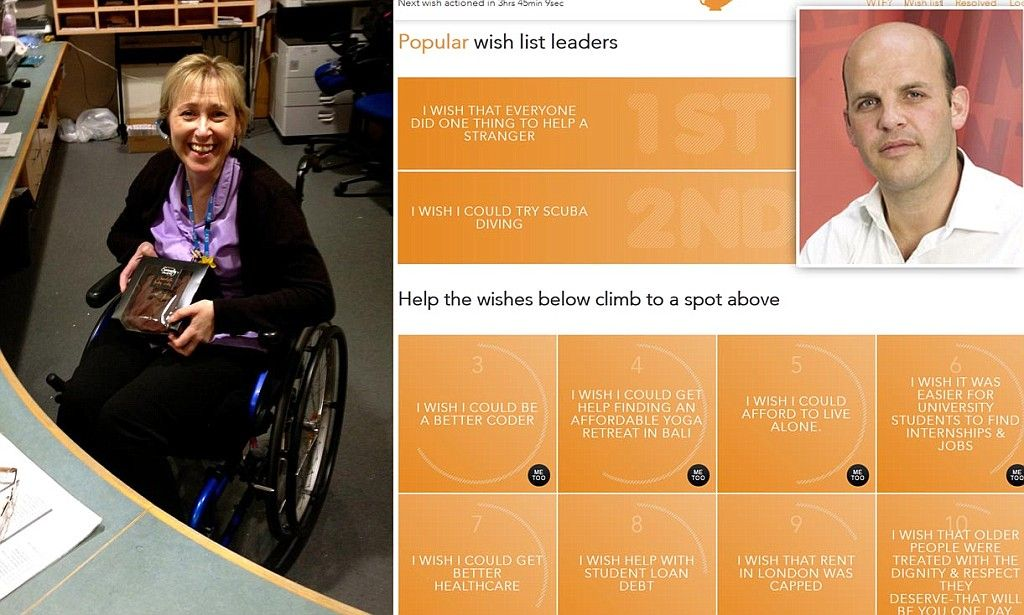 Virtual genie: Crowdsourcing site that's making real wishes