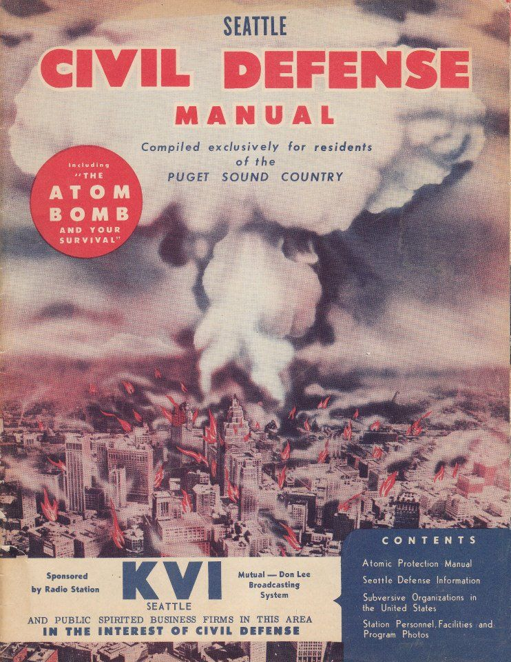 1951 Seattle Civil Defense Manual Cover.