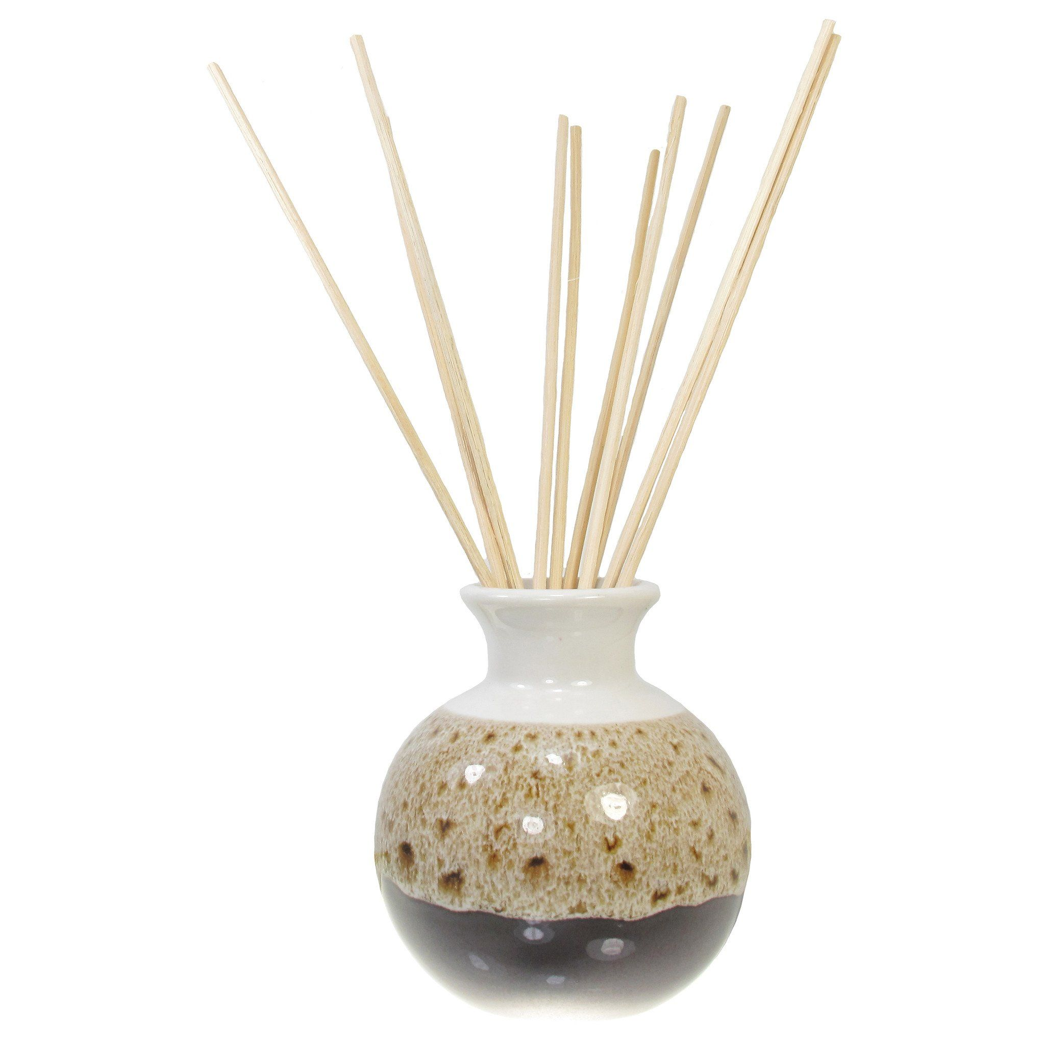 Ceramic Aroma Oil Diffuser Vase, Glazed Finish & 10 Diffuser Rattan Reed Sticks, 10 inches long (each) in 2020 | Aroma oil diffusers, Diffuser ...