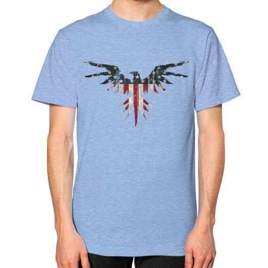 Eagle Paint Unisex T-Shirt (on man)