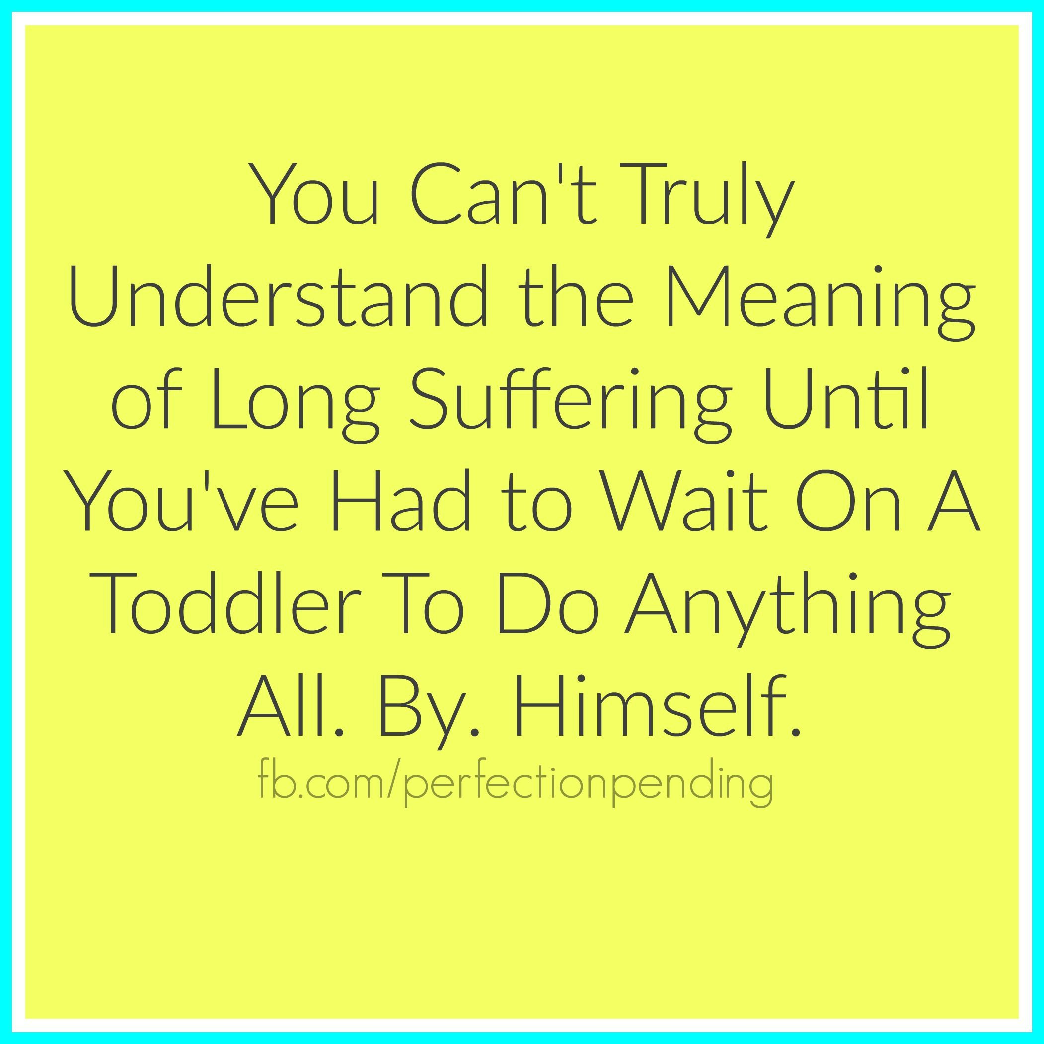 Toddler Quotes The True Meaning Of Long Suffering  You Ve Humor And Funny Stuff