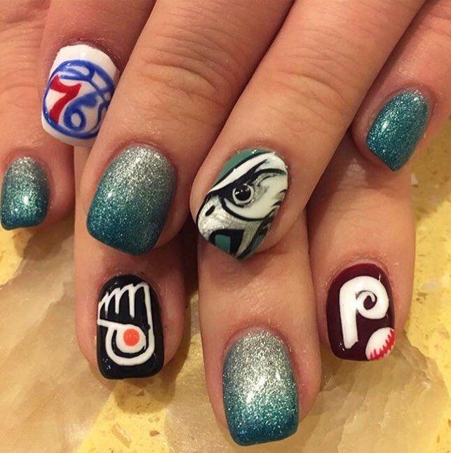PHILLY! #nailart #nails #philadelphia #philly #love #phillies ...