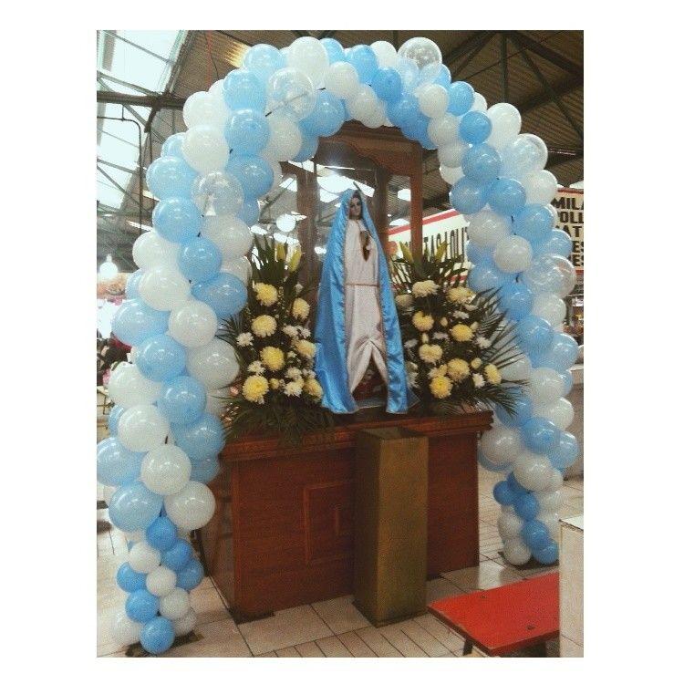 Arco con globo de latex para Virgen de Guadalupe | Arreglos con Globos ...