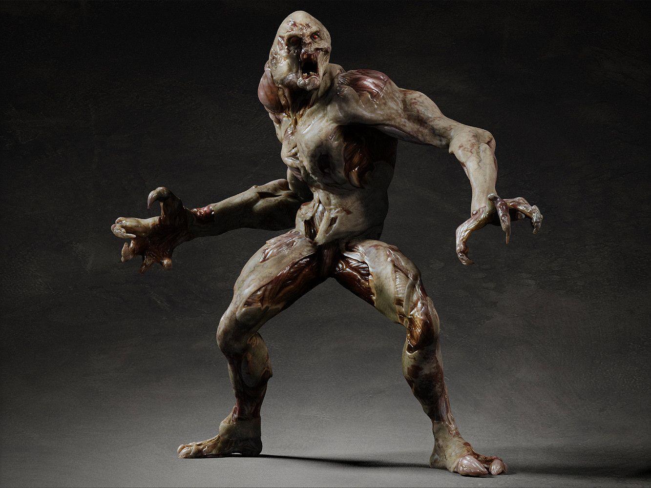 3d Model Rigging Skin Monster Design Pinterest 3d
